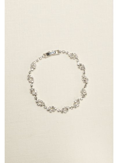 Crystal Circle Design Bracelet - Wedding Accessories