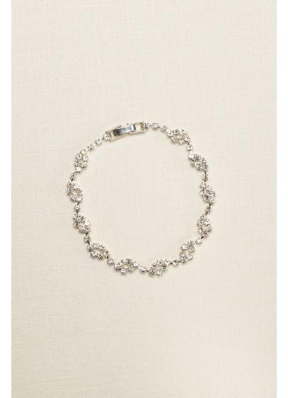 David's Bridal Grey (Crystal Circle Design Bracelet)