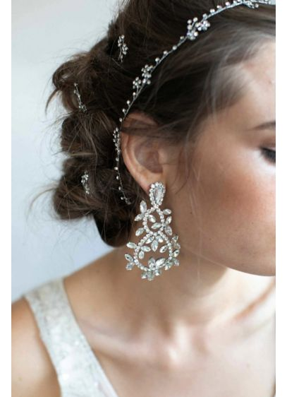 Looping Crystal Drop Earrings - Wedding Accessories
