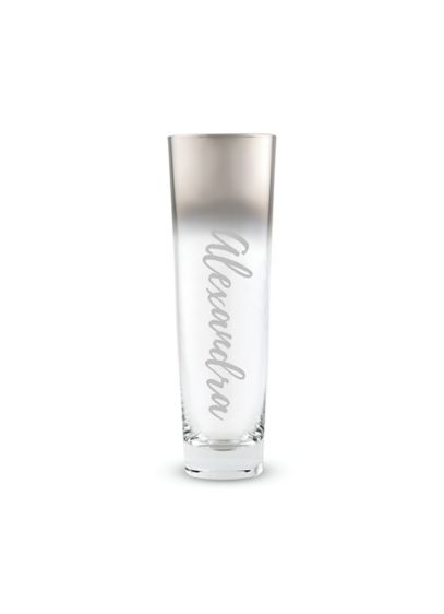 Personalized Metallic Ombre Stemless Flute - A metallic ombre detail adds unique flourish to