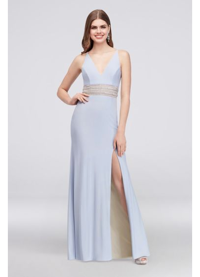 Long Sheath Spaghetti Strap Cocktail and Party Dress - Xscape