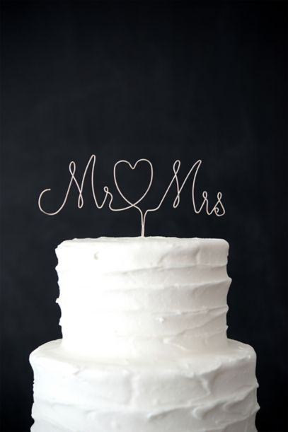 Mr And Mrs Wire Cake Topper David S Bridal