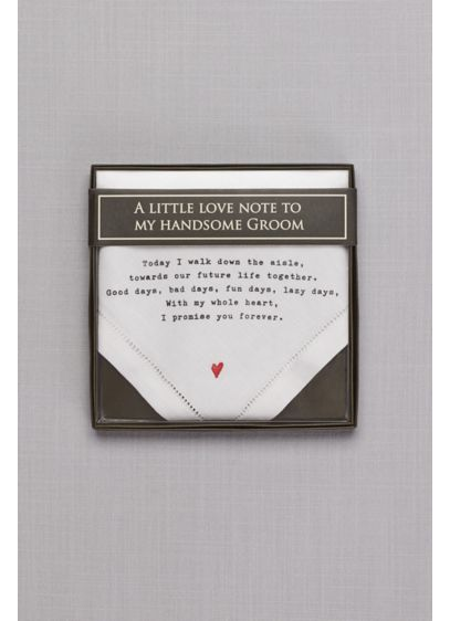Groom Love Note Handkerchief - A love note your groom can tuck inside