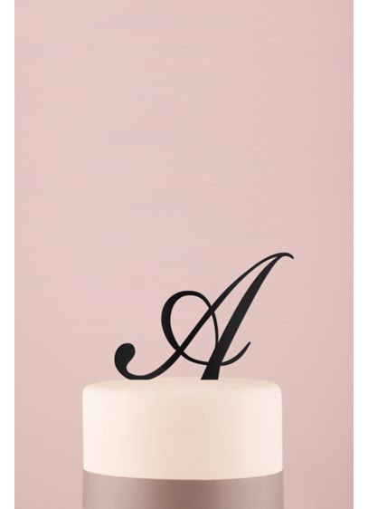Personalized Script Monogram Acrylic Cake Topper - Wedding Gifts & Decorations