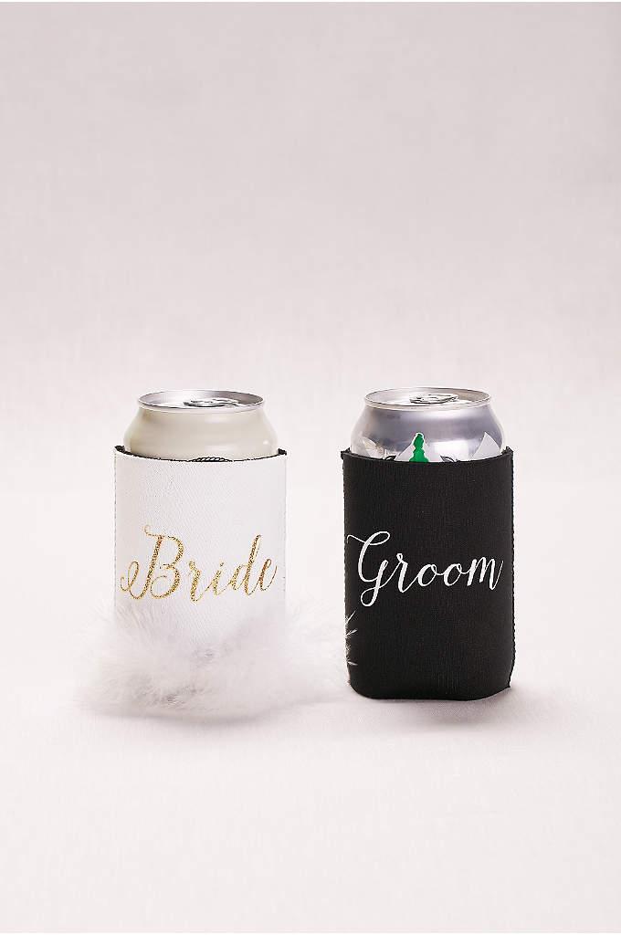 Bride and Groom Drink Sleeves - This cool set of drink sleeves (pun intended)