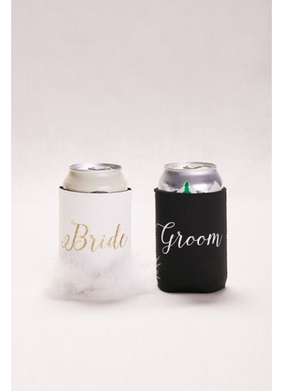 Bride and Groom Drink Sleeves - This cool set of drink sleeves (pun intended)