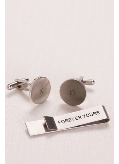 Forever Yours Tie Bar and Cufflink Set - Wedding Gifts & Decorations