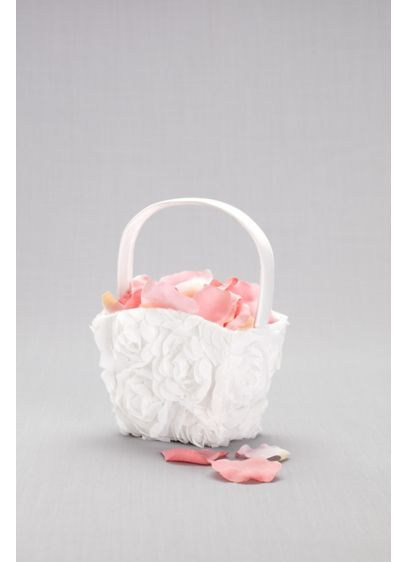 Organza flower girl basket davids bridal organza flower girl basket wedding gifts decorations mightylinksfo
