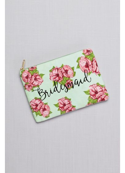 Bridesmaid Floral Canvas Pouch - Show your bridesmaids some love with this fun