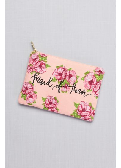 Maid of Honor Floral Canvas Pouch - Show your maid of honor some love with