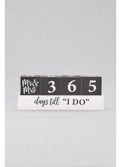 Black (Mr and Mrs Wedding Countdown Blocks)