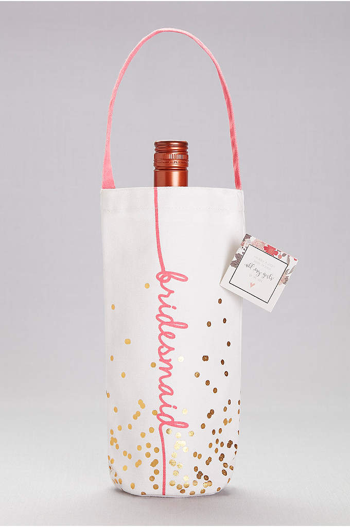 Bridesmaid Canvas Wine Tote - What better way to thank your bridesmaids than