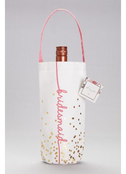 Bridesmaid Canvas Wine Tote - Wedding Gifts & Decorations
