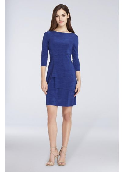 Short 0 3/4 Sleeves Cocktail and Party Dress - Tahari ASL
