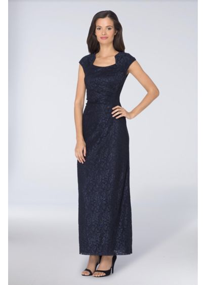 Long Sheath Cap Sleeves Formal Dresses Dress - Tahari ASL