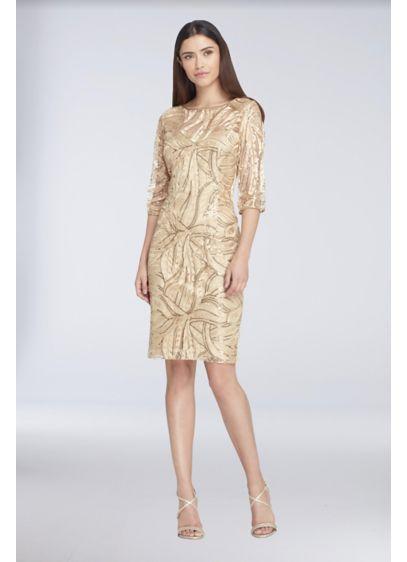Short Sheath Halter Cocktail and Party Dress - Tahari ASL