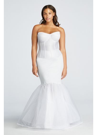 David's Bridal White (Plus Size A-Line Silhouette Slip)