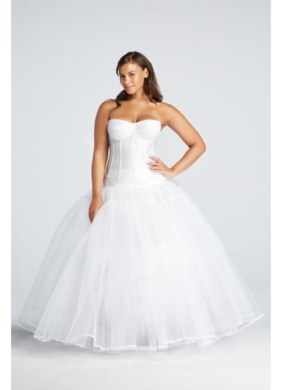 Extreme Ball Gown Hoop Plus Size Slip - This pull-on plus-size slip features a high waist