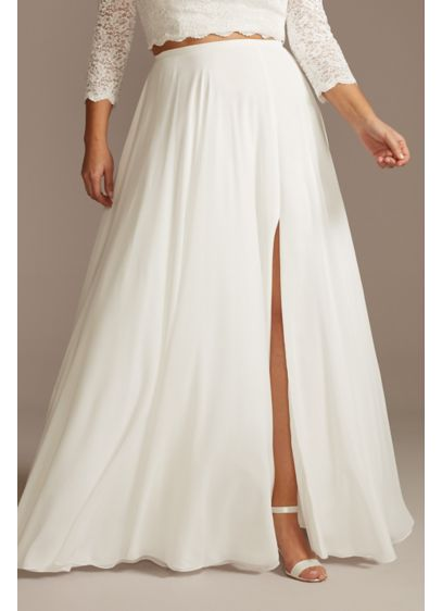 Chiffon Plus Size Wedding Separates Circle Skirt - Floaty chiffon gives this plus size wedding separates