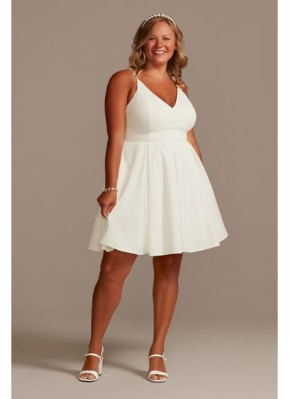 Short A-Line Casual Wedding Dress - David's Bridal