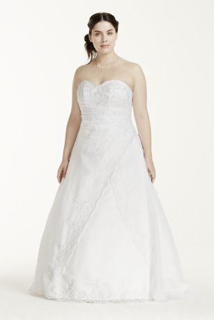 David's Bridal Dress Slit in Front