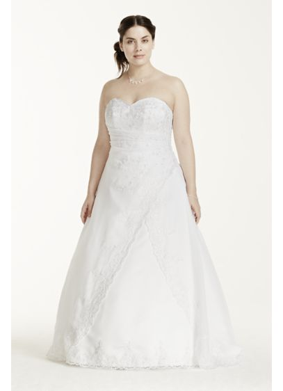 Lace Plus Size Wedding Dress with Split Front | David\'s Bridal