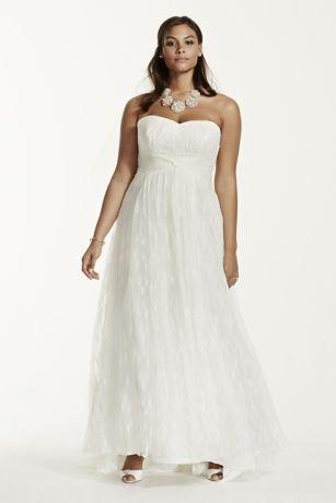 Strapless Lace Sheath Plus Size Wedding Dress | David\'s Bridal