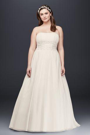 Beaded Empire Waist Wedding Dress
