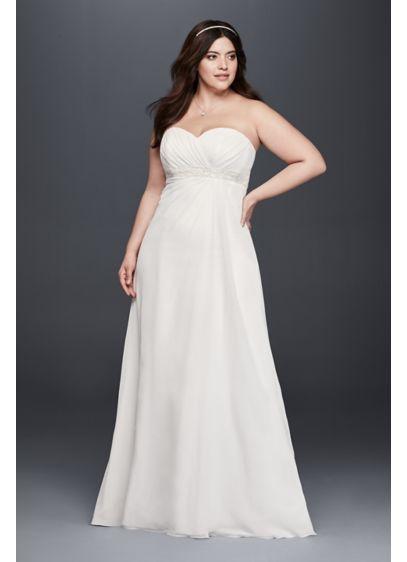 1fd2fee9997 Long A-Line Beach Wedding Dress - David s Bridal Collection