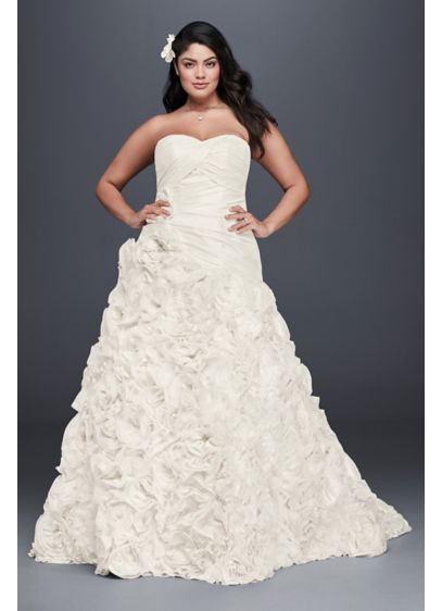 Rosette Skirt Plus Size Wedding Dress Davids Bridal