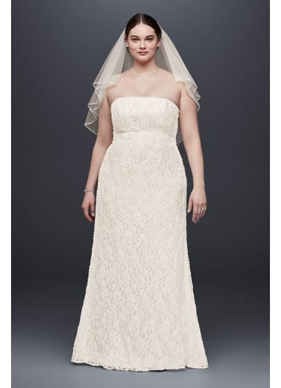 Lace Empire Waist Plus Size Wedding Dress