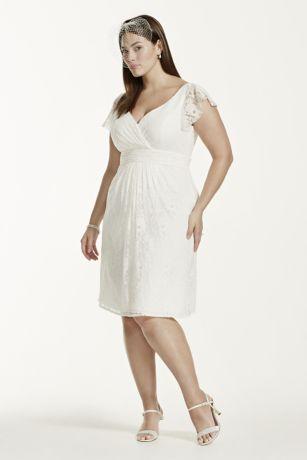 Short White Plus Size Bridal Dresses