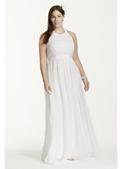 Long A-Line Casual Wedding Dress - DB Studio