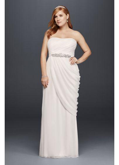 Sheath Plus Size Wedding Dress with Beaded Details | David\'s Bridal