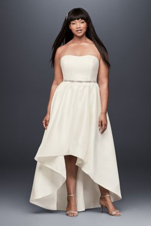High Low A-Line Strapless Dress -