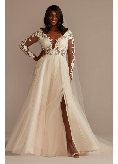 Long A-Line Formal Wedding Dress - Galina Signature
