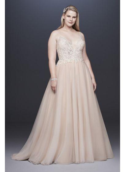 Long A Line Glamorous Wedding Dress Galina Signature