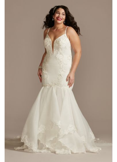 Crepe Mermaid Trumpet Plus Size Wedding Dress - Created for the bride who loves to flaunt