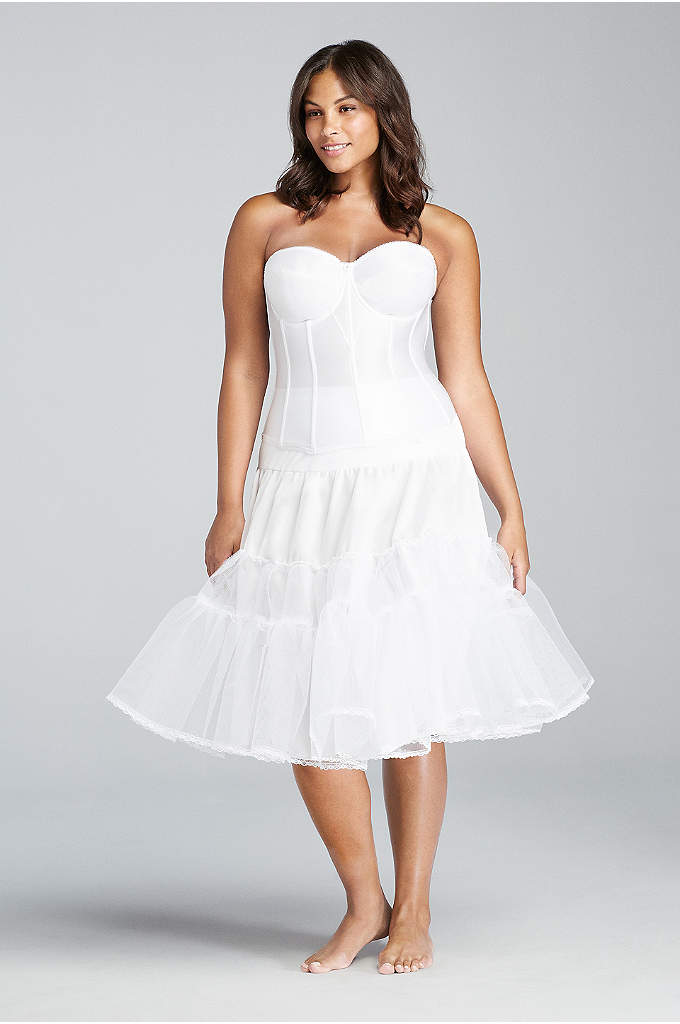 Tea Length Plus Size Slip - This pull-on plus-size slip features a high waist