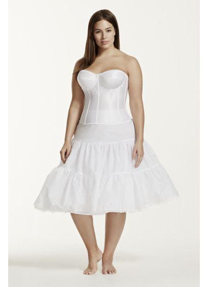 Tea Length Plus Size Bridal Slip - Wedding Accessories