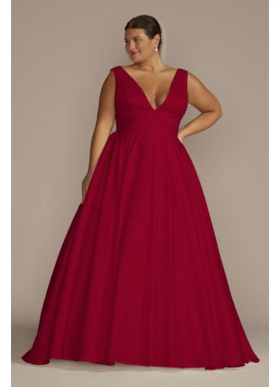 Satin Cummerbund Plus Size Wedding Dress - A traditional wedding dress with just a hint
