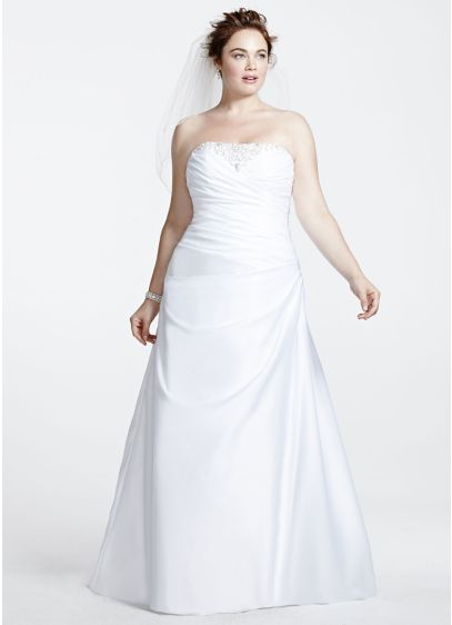 56c8732aa96 Long A-Line Formal Wedding Dress - David s Bridal Collection