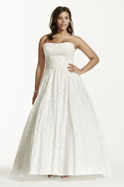 Lace Plus Size Wedding Dress With Pocket Detail David S