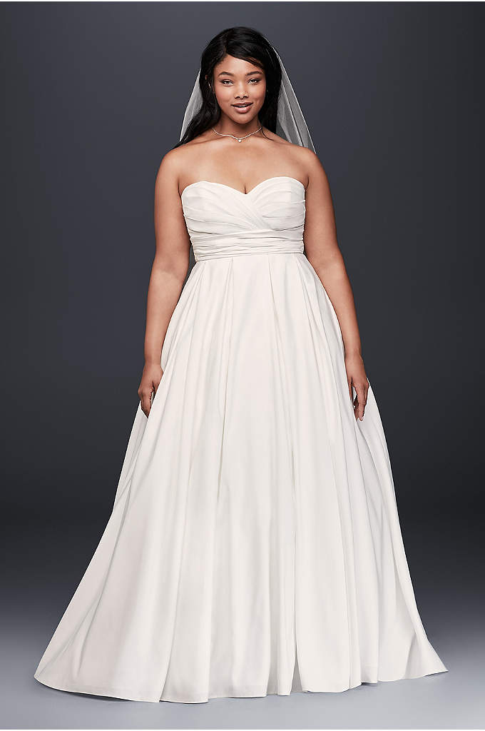 Faille Empire Waist Plus Size Wedding Dress - One of the many beautiful things about this