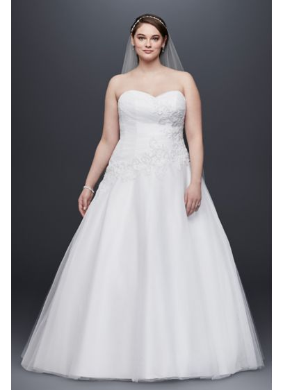d8a18c4e3db Tulle Plus Size Wedding Dress Lace Applique. 9WG3740. Long Ballgown Formal Wedding  Dress - David s Bridal Collection