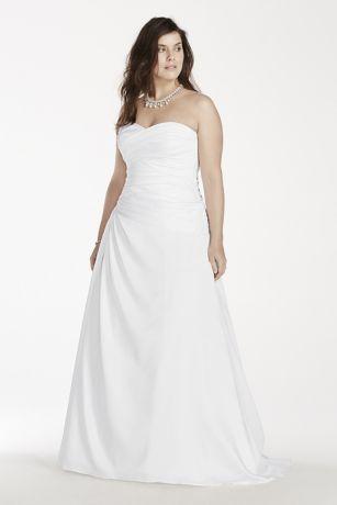 A-Line Plus Size Wedding Dress with Dropped Waist   David\'s Bridal