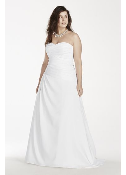A Line Plus Size Wedding Dress With Dropped Waist Davids Bridal