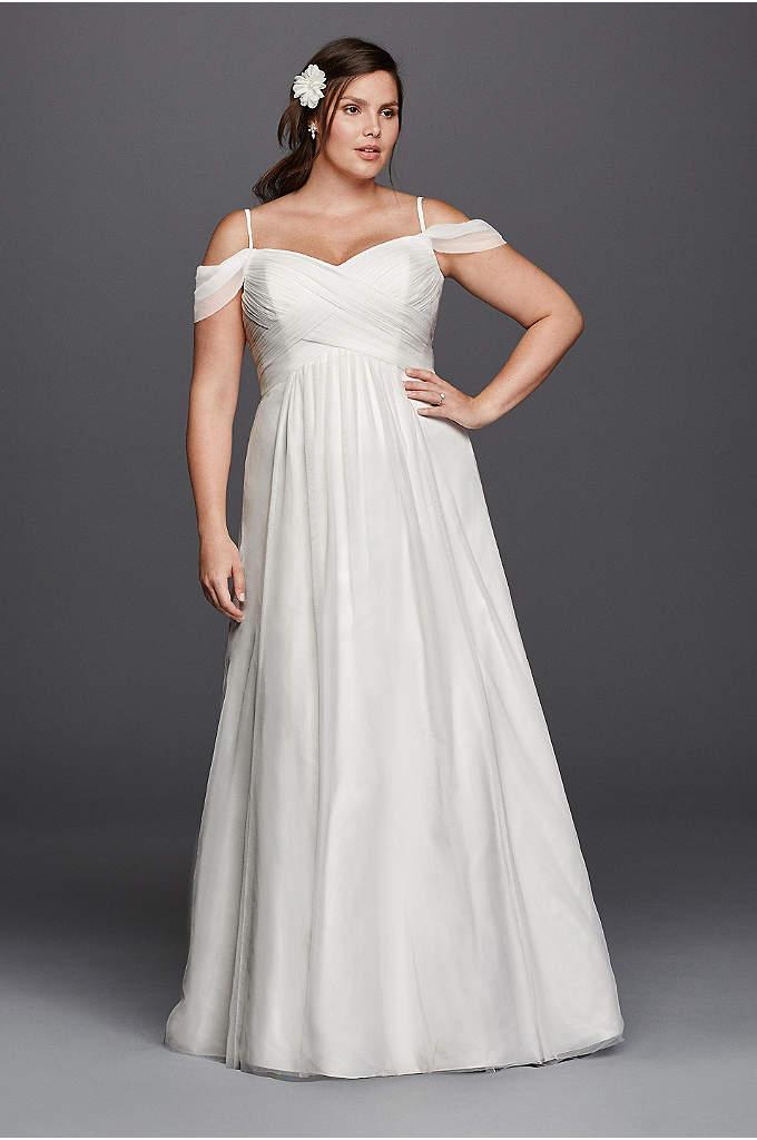 Chiffon Empire Waist Plus Size Wedding Dress | David\'s Bridal