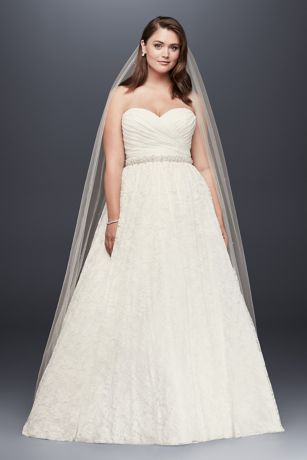 David Bridal Satin Sweetheart Ball Gown Wedding