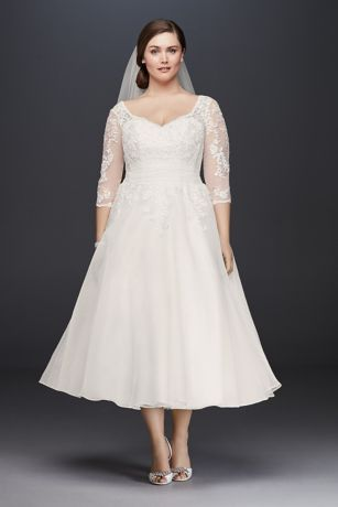 Plus Size Tea Length Wedding Dress